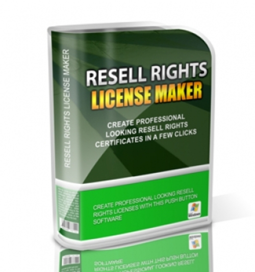 Product picture Resell Rights License Maker