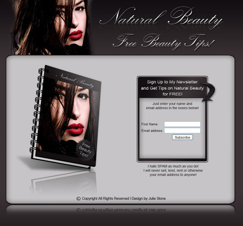 Product picture Natural Beauty  (eBook and Niche Site with Resale Rights!)