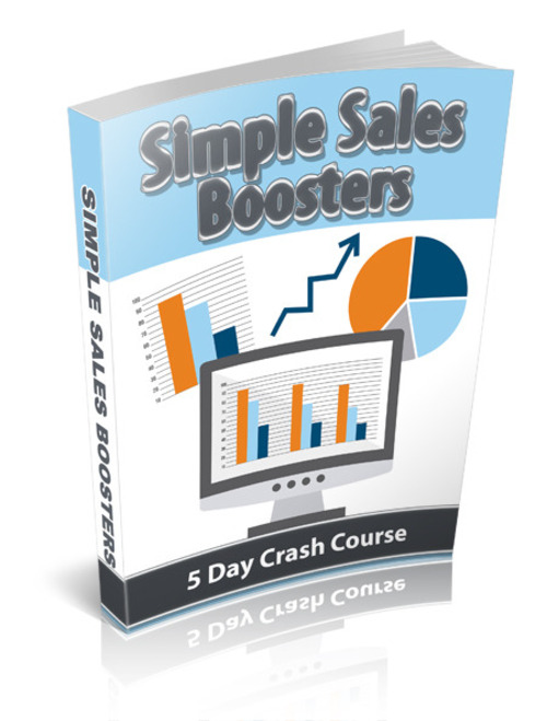 Product picture Simple Sales Boosters eCourse (with PLR)