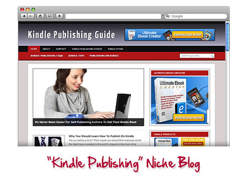 Product picture Kindle Publishing WordPress Niche Blog