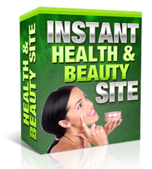 Product picture Instant Health And Beauty Site (with MRR)