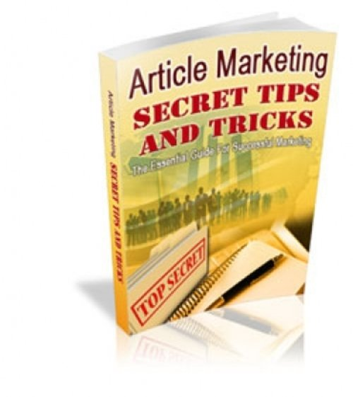 Product picture Article Marketing Secret Tips And Tricks (with MRR)